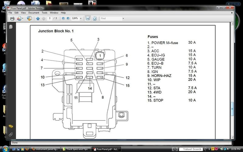 instrument panel lights tacoma world tacoma fuse box diagram at gsmx.co