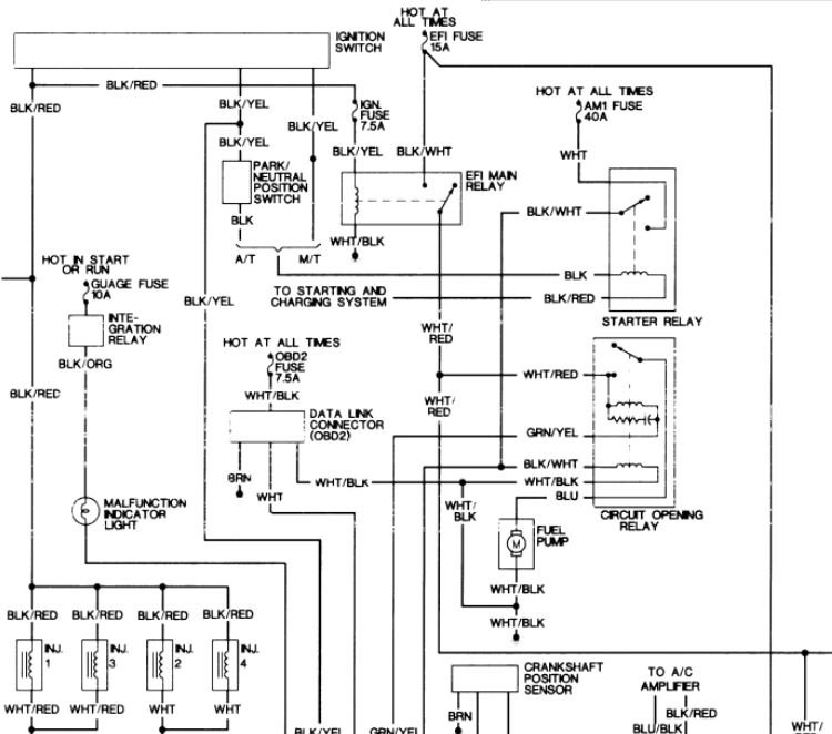 1996 fuel pump wiring diagram or test power to pump tacoma 1992 toyota pickup fuel pump operation