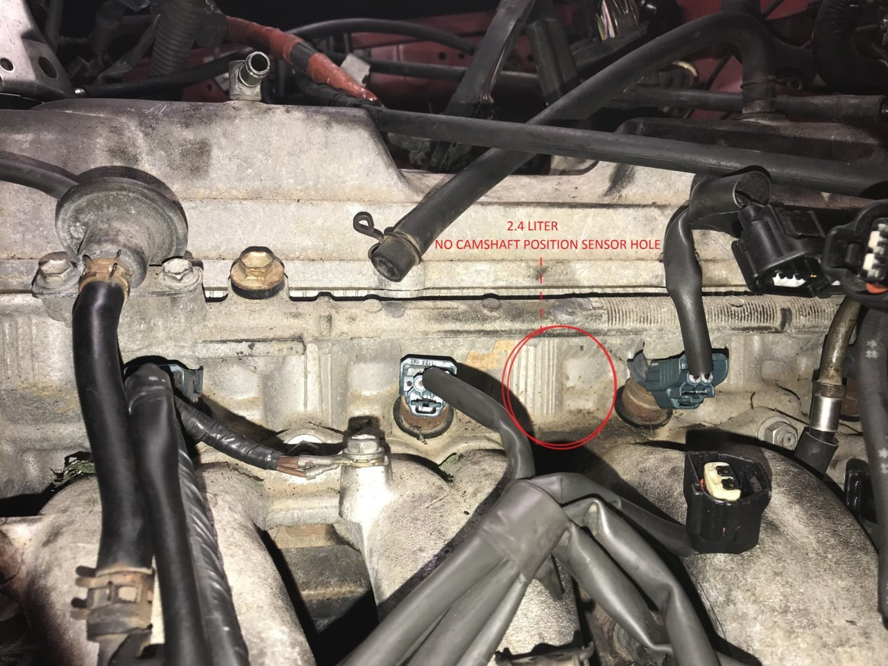 Missing Camshaft Position Sensor Tacoma World 1999 Toyota 4runner Fuel Filter Location 27 Cps 24 No Hole