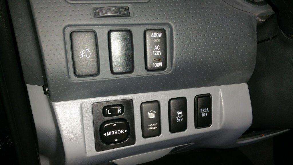 Oem Looking Garage Door Button Opener Hack Tacoma World