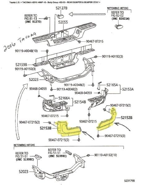 16 tacoma bumper cap removal