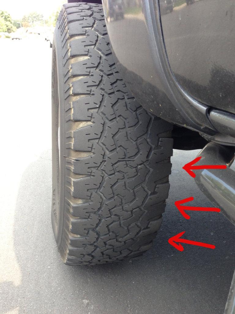 Bad shock? Odd tire wear       Tacoma World