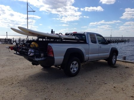 Surfboards Carrying Longboards In A Short Bed Tacoma World