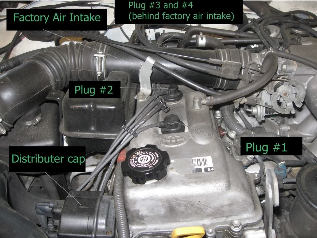 how to change your spark plugs and wires (2 7 liter 3rz fe engine Toyota T100 Parts Diagram at bayanpartner.co