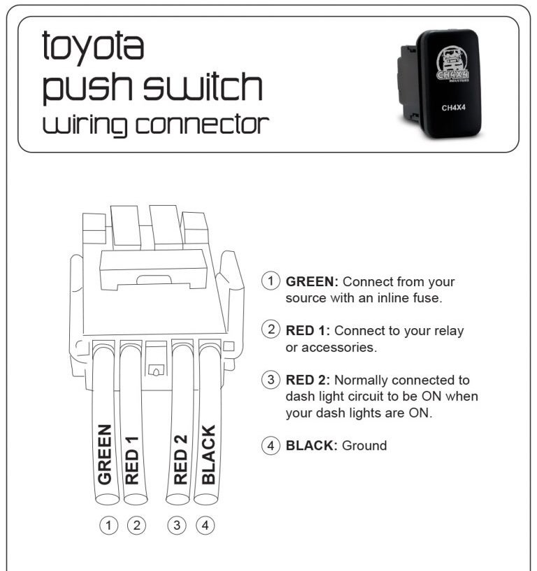 wiring toyota push buttons for led tacoma world. Black Bedroom Furniture Sets. Home Design Ideas