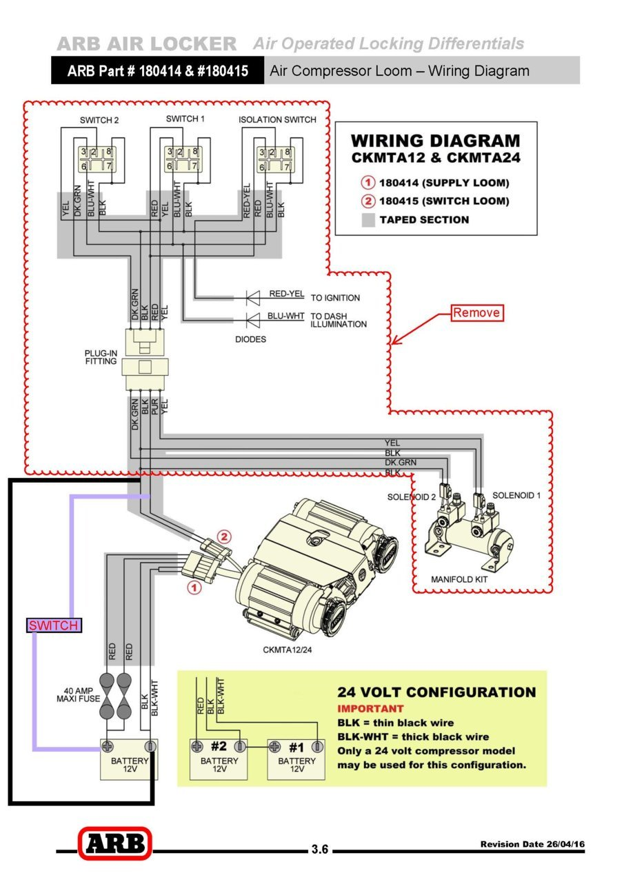 [NRIO_4796]   ARB Twin Compressor (CKMTA12) Wiring | Tacoma World | Arb Locker Wiring Harness Diagram |  | Tacoma World