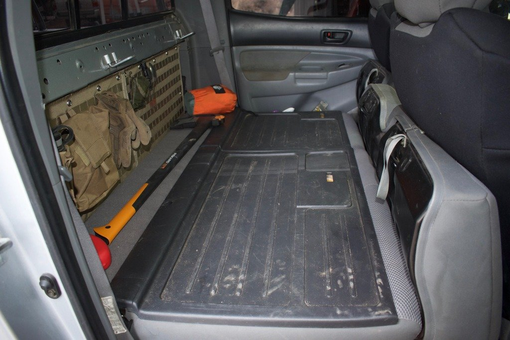 My Solution To Behind The Seat Storage With Molle Panel