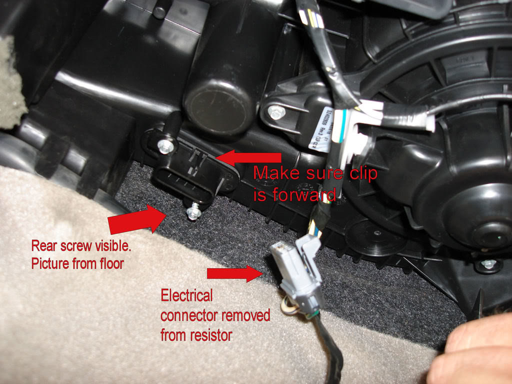 Replacement Of Hvac Blower Motor Resistor on toyota venza wiring schematic