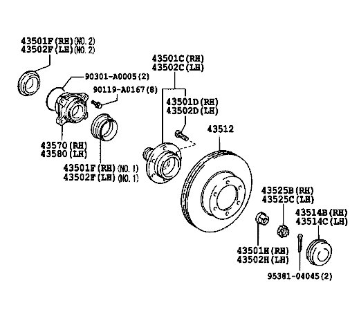 Hub Bearing Assembly Page 8 Tacoma World
