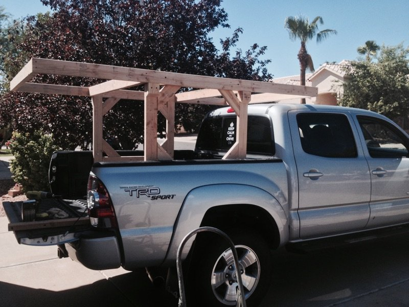 homemade canoekayak rack tacoma world