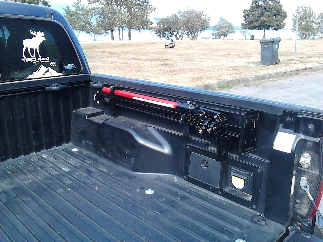 Axe and shovel mount In-bed mounting brackets Toyota Tacoma or similar
