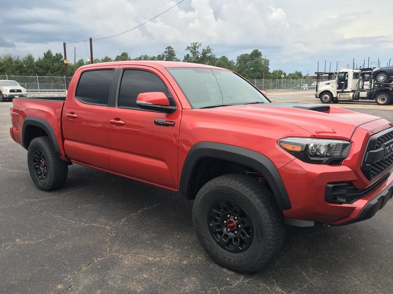 2017 trd pro bacelona red metallic tacoma world. Black Bedroom Furniture Sets. Home Design Ideas