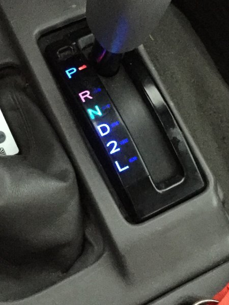 how to change gear shift light