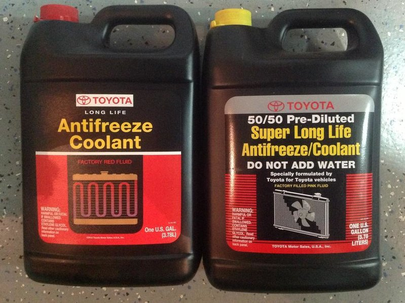 toyota oem red or pink coolant f s tacoma world rh tacomaworld com toyota red coolant life toyota red coolant ingredients