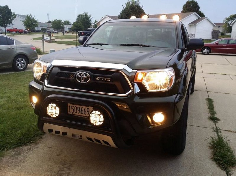 How do you like your bull bar lights tacoma world i have kc fog lights on mine and kc driving and spot lights on my roll bar and love them aloadofball Choice Image
