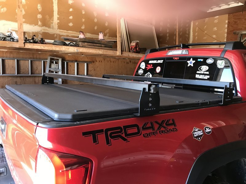 8dcd68adb77 Bed Rack installed over a tonneau cover
