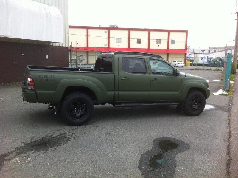 Vinyl Wrapped Army Green 2012 Tacoma Tacoma World