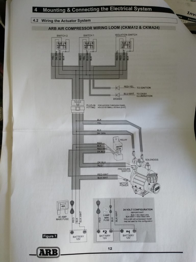 arb air compressor wiring diagram schematic diagram