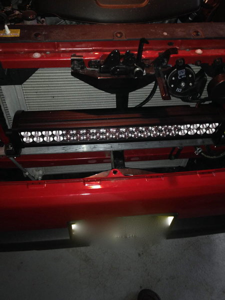 Light Bar Behind Stock Grill Build Tacoma World