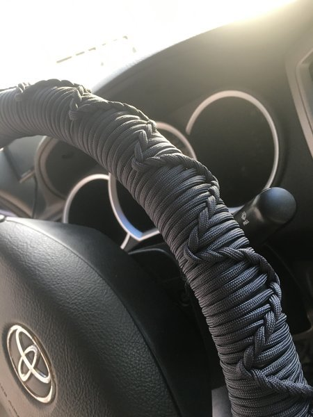 Paracord steering wheel wrap tacoma world for Paracord steering wheel wrap