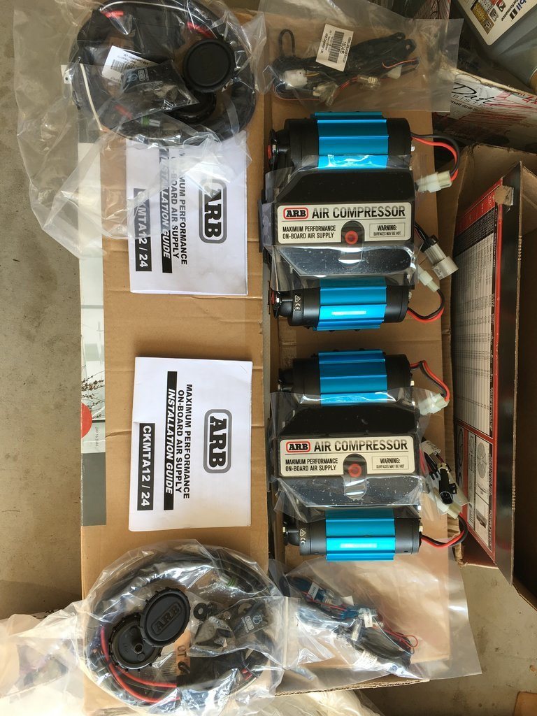 Two 12v Arb Twin Compressors And Rd121 Locker Tacoma World Air Wiring Harness Img 9944