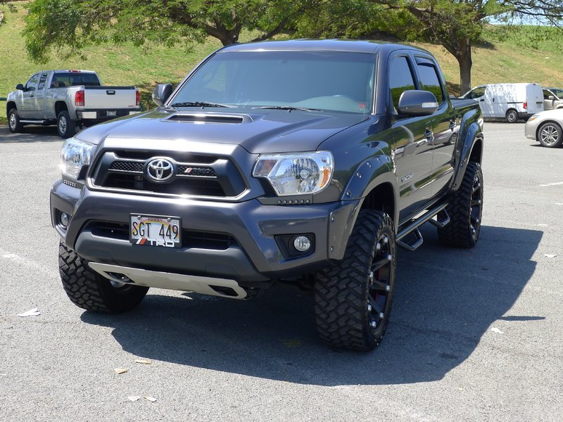 tacoma toyota trd 4x4 sport led lights text pickup