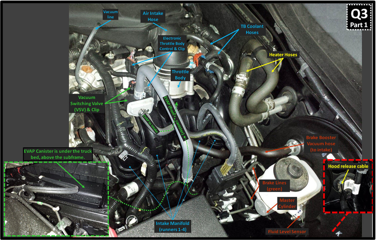 Engine Bay Guide For The 2tre Fe 2 7l Tacoma World