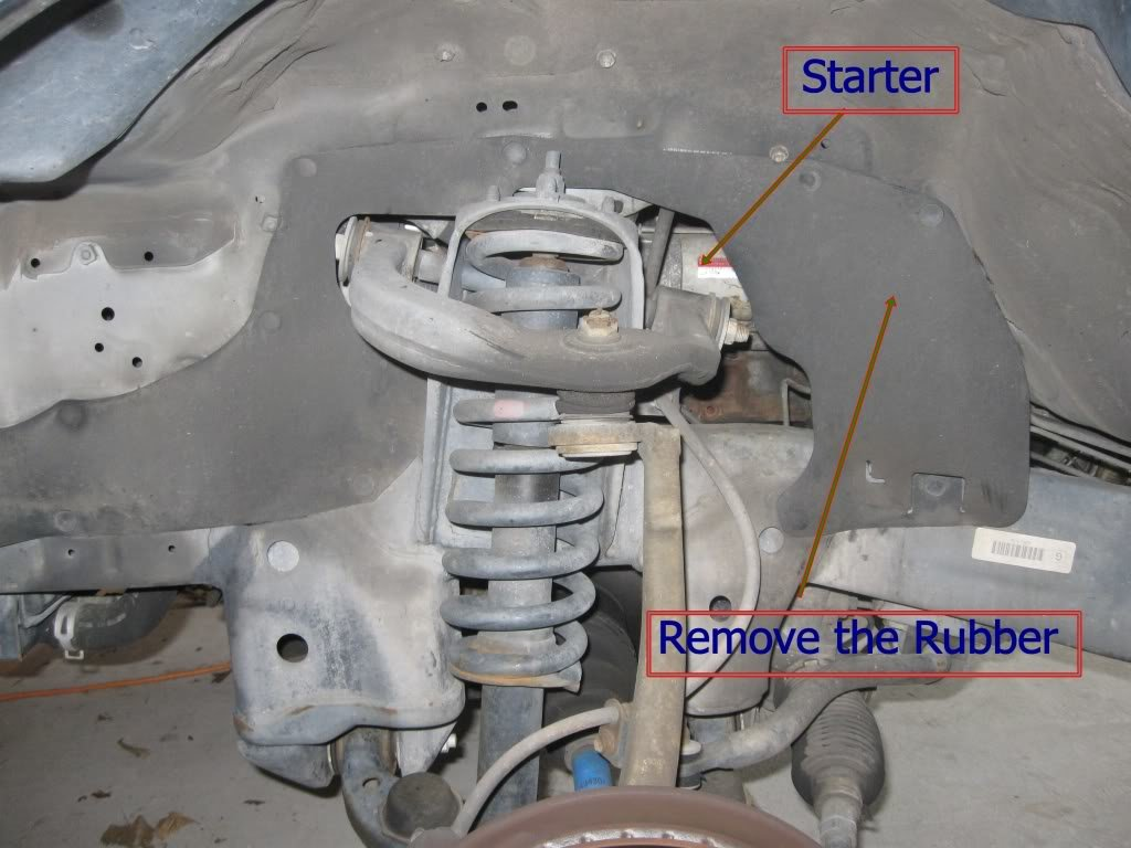 how to remove install a starter fix a clicking starter (2 7 liter Chevy Engine Wiring Harness at gsmx.co