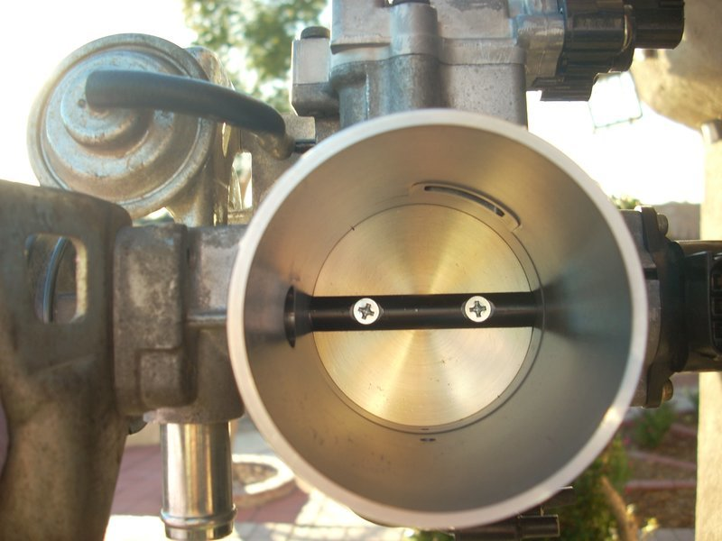 Fixed my surging & fast idle: Throttle body butterfly