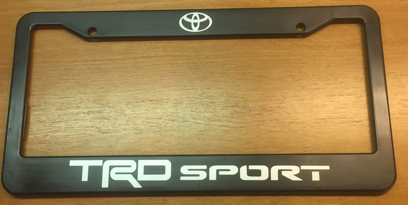 FS: TRD License plate frames | Tacoma World