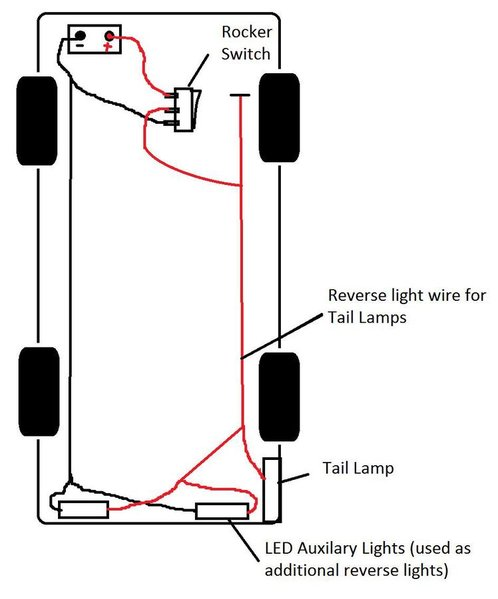 wiring problem aux reverse lights w switch override tacoma world rh tacomaworld com wiring diagram reverse lights wiring reverse lights to trailer plug