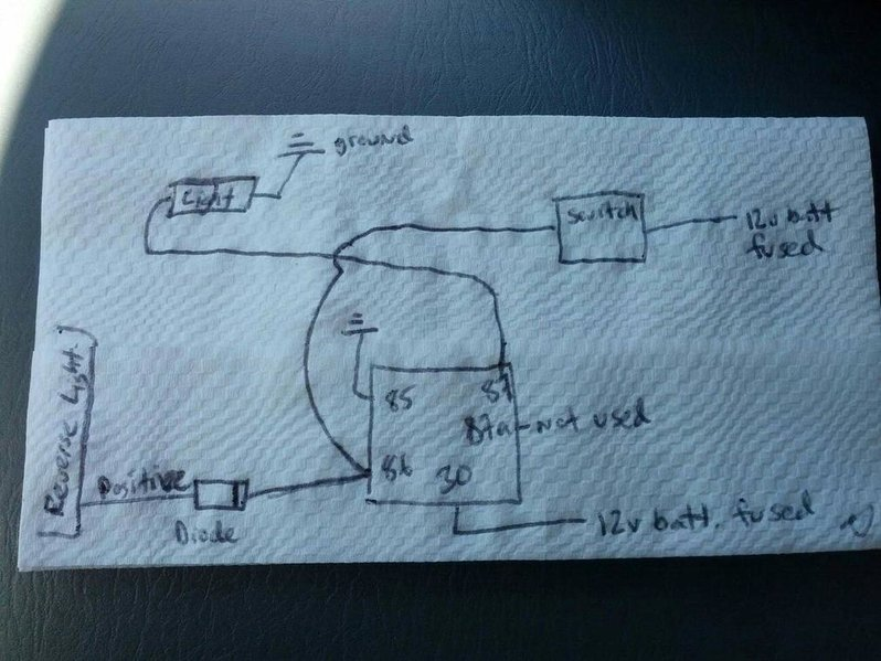 wiring extra reverse lights to switch and preexisting lights Reverse Light Wiring Diagram Color Code at edmiracle.co