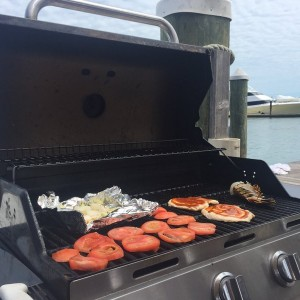 Cooking at the dock!