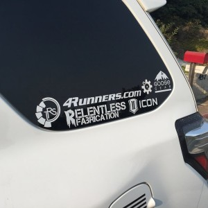 Got my 4Runners.com decal today. Don't think I could have planned this to fit any better haha. Thanks @tcbob