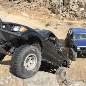 Went wheeling today! Buddy and I traded rigs lol. I got the locked jeep on tons and 41s and he got the locked taco on bald 35s. We both had an amazing