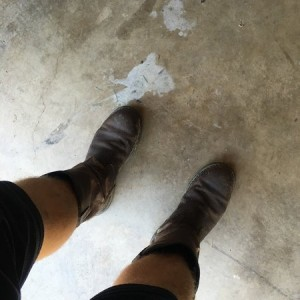 And, I wore my boots as promised. Please, take note of my amazing fashion sense.