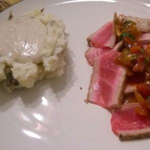 Starch and tuna. Did.