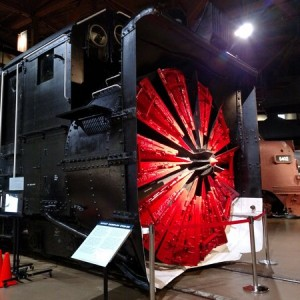 SP rotary snow plow at California State Railroad Museum.