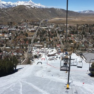 Snowmobile hill climb in Jackson