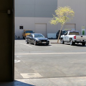 The owner of Lumber Liquidators next door. Always parks like a DBag..