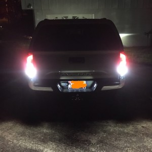New LED brake, license plate, and reverse lights