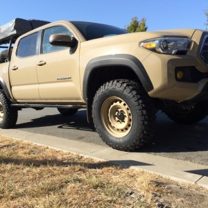 Quicksand Tacoma Steel Wheels Mud Tires