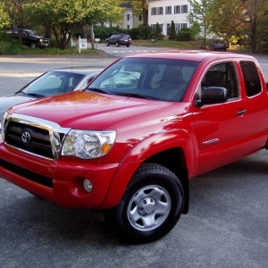 My new Brilliant Red Tacoma