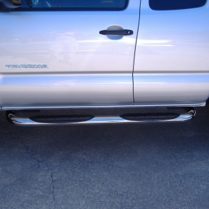polished stainless nerf bars