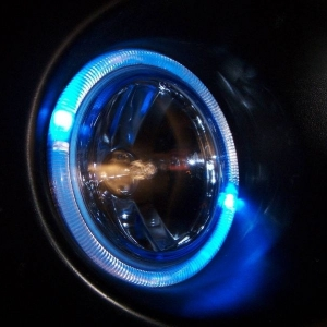 Halo ring light in blue mode