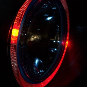 Halo ring light  in red mode