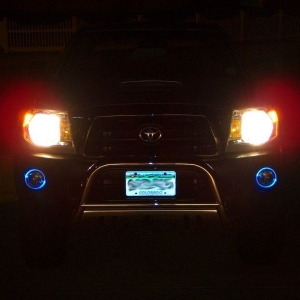 Front  halos blue mode