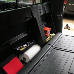Behind seat storage