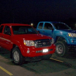 "Stock TRD versus 6"" ProComp on Access Cabs"