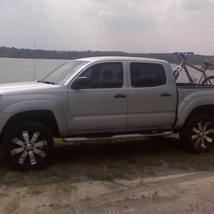 i love seeing my truck after riding my bike!!